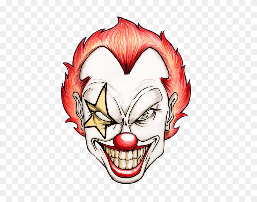 Deranged, Twisted, Psychotic, Lunatic Clown Lunatic Clowns - Scary Clown PNG