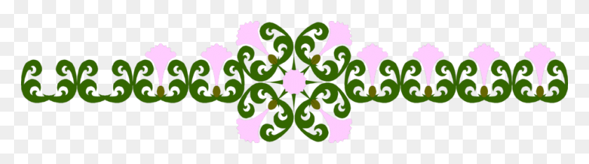 Design Free Stock Photo Illustration Of A Purple Flower Border - Border Design PNG