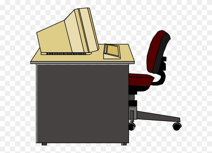 Desk Clipart Literature, Desk Literature Transparent Free - Sit At Desk Clipart