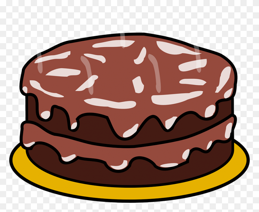 Dessert Clipart Chocolate Cake - Dessert Clipart Free