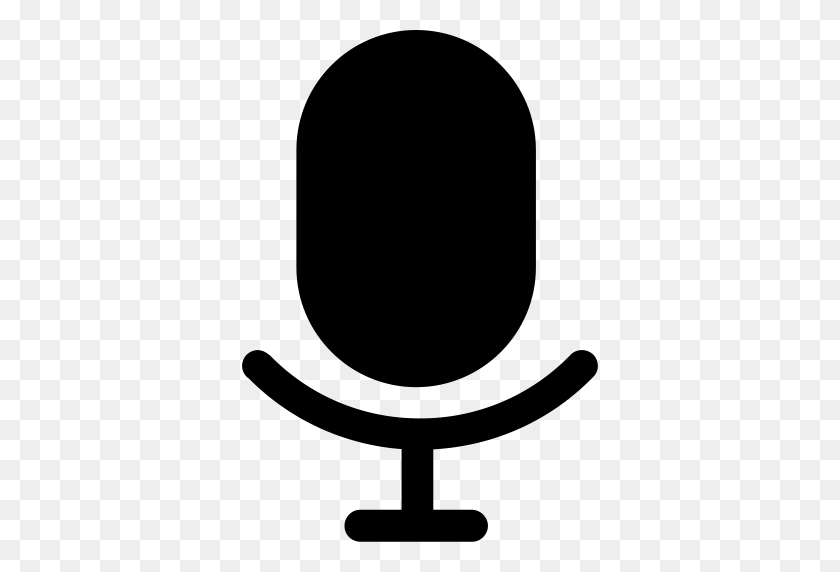 Device Status Microphone, Microphone, Record Icon Png And Vector - Microphone Silhouette PNG