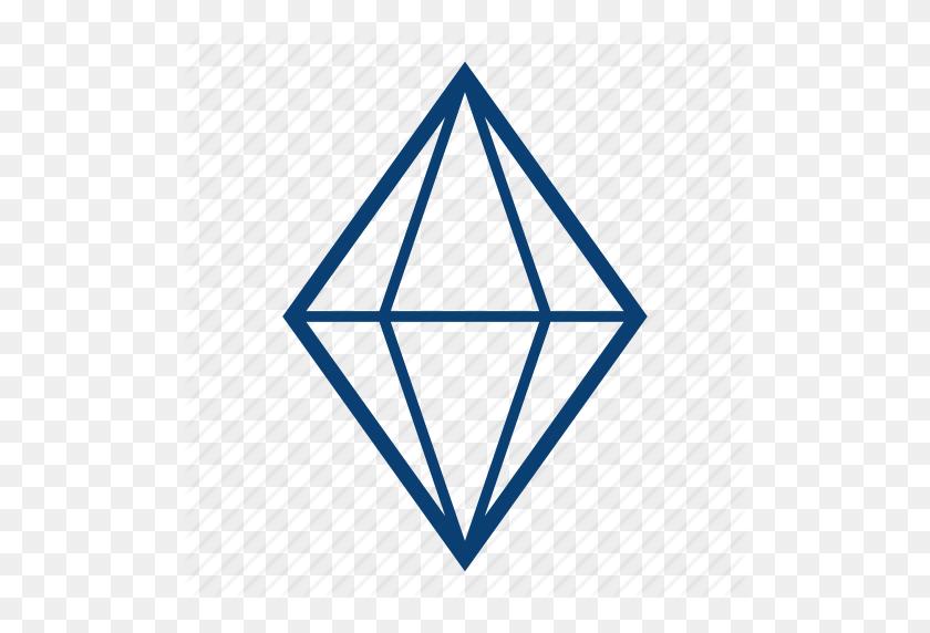Diamond, Diamond Shape, Gem, Jewerly, Stone, Trillion Icon - Diamond Shape PNG