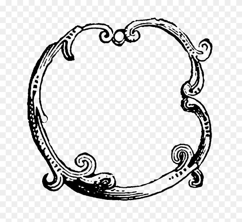 Digital Stamp Design Decorative Circle Frame Designs Flourish - Circle Design PNG