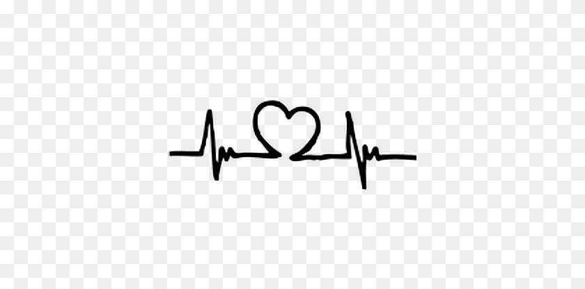 Digitalart Emotions Heart Heartbeat Love Stickers Art - Heartbeat Clipart Black And White