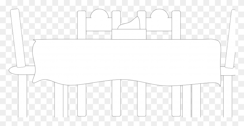Dining Table Cliparts - Table Black And White Clipart