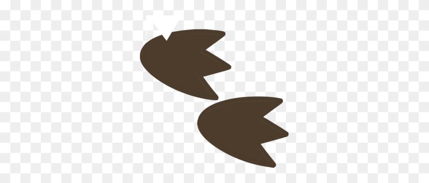 291x299 Dinosaur Footprint Clip Art - Monster Feet Clipart