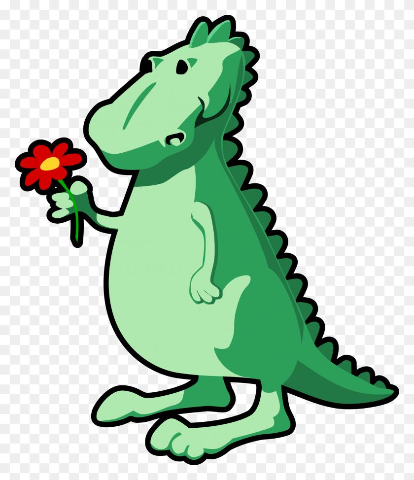 Dinosaurs Clip Art - Cartoon Alligator Clipart