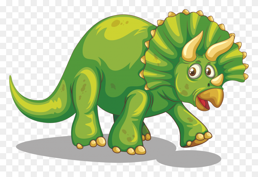 Dinosaurs Clipart Lime Green - Cartoon Dinosaur Clipart