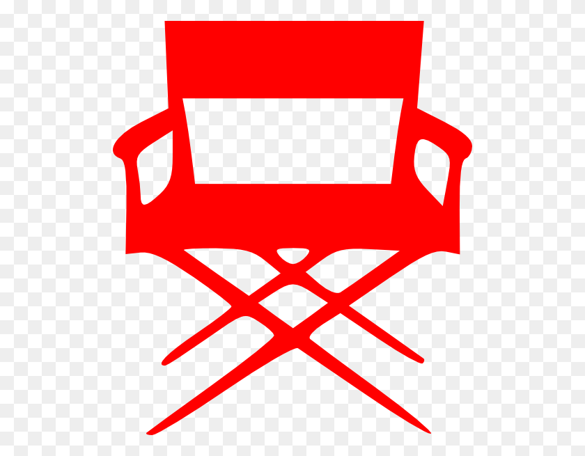516x595 Director S Chair Red Clip Art - S Clipart