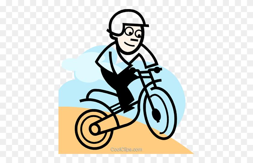 Dirt Bikes Royalty Free Vector Clip Art Illustration - Road Bike Clipart