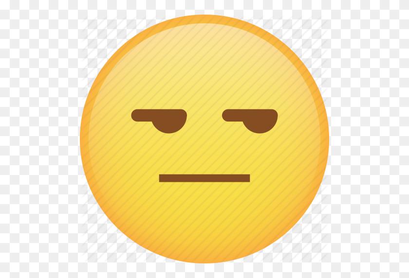 Disappointed, Emoji, Emoticon, Envy, Smiley, Smirk Icon - Smirk Emoji PNG