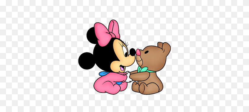Disney Babies Clip Art Baby Minnie Mouse - Disney Baby Clipart
