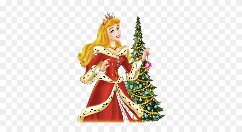 Disney Xmas Princesses - Disney Princess Clipart