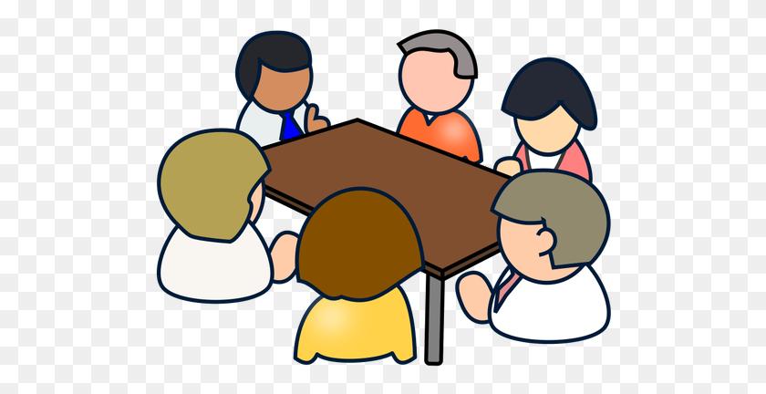 500x372 Diverse Meeting - Meeting Reminder Clipart