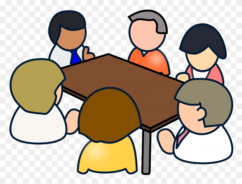 2400x1789 Diverse Meeting Icons Png - Meeting PNG