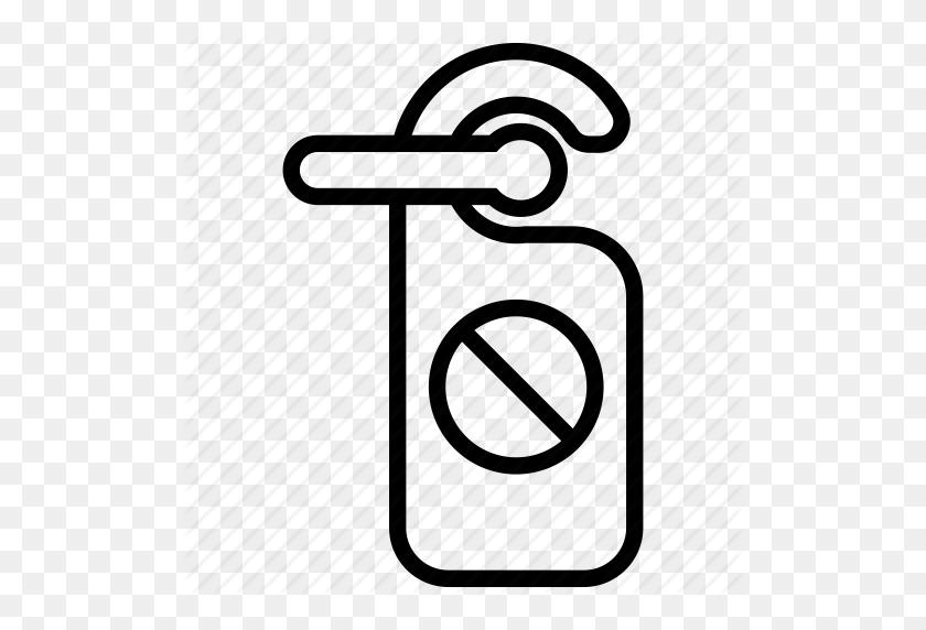 Do Not Disturb, Door Knob, Door Knob Hotel Room, Door Sign, Door - Do Not Disturb Clipart