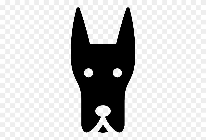 Doberman Dog Head - Dog Head PNG