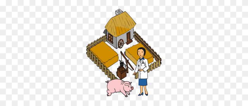 Doctor Pig On A Farm Clip Art - Pig Image Clipart