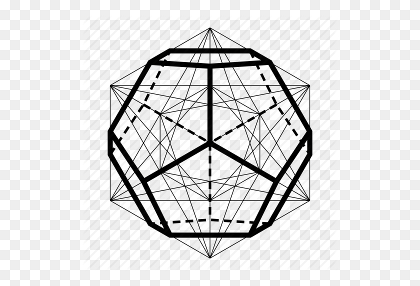 512x512 Dodecaheadron, Ether, Geometry, Sacred Icon - Sacred Geometry PNG