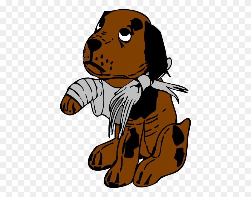 438x597 Dog Broke Clip Art - Sad Dog Clipart