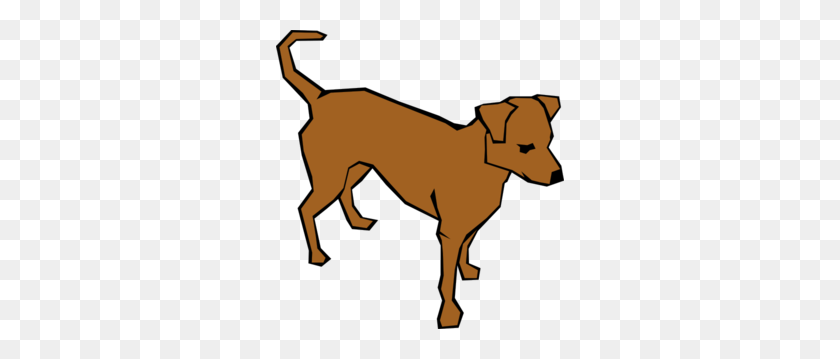 288x299 Dog Clip Art Outline - Sad Dog Clipart