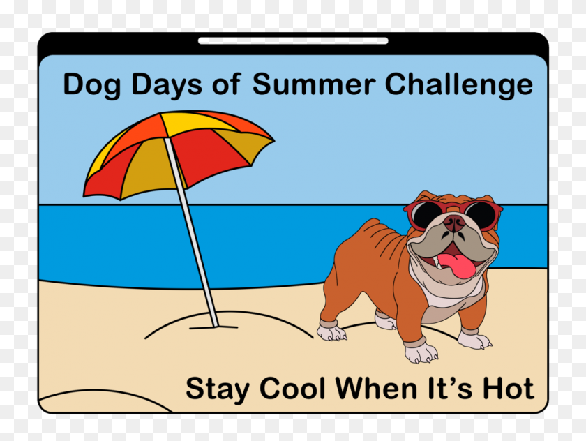 Dog Days Of Summer Challenge - Dog Days Of Summer Clip Art