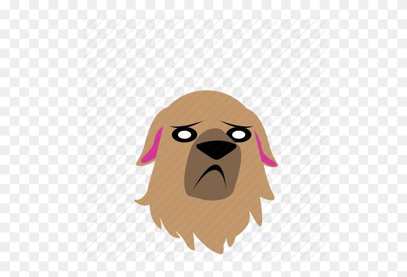 512x512 Dog, Emoji, Graphic, Sad, Sticker Icon - Sad Dog PNG