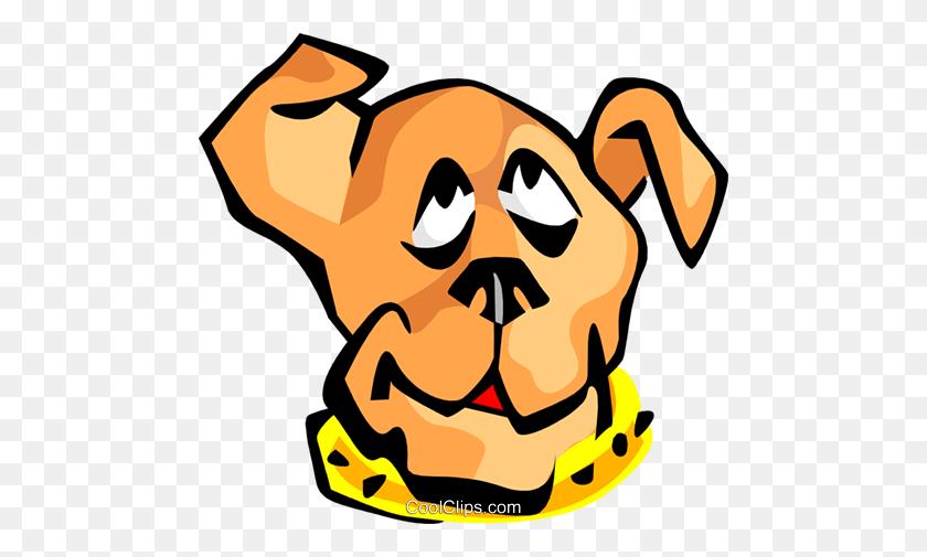 Dog Face Royalty Free Vector Clip Art Illustration - Pets Clipart