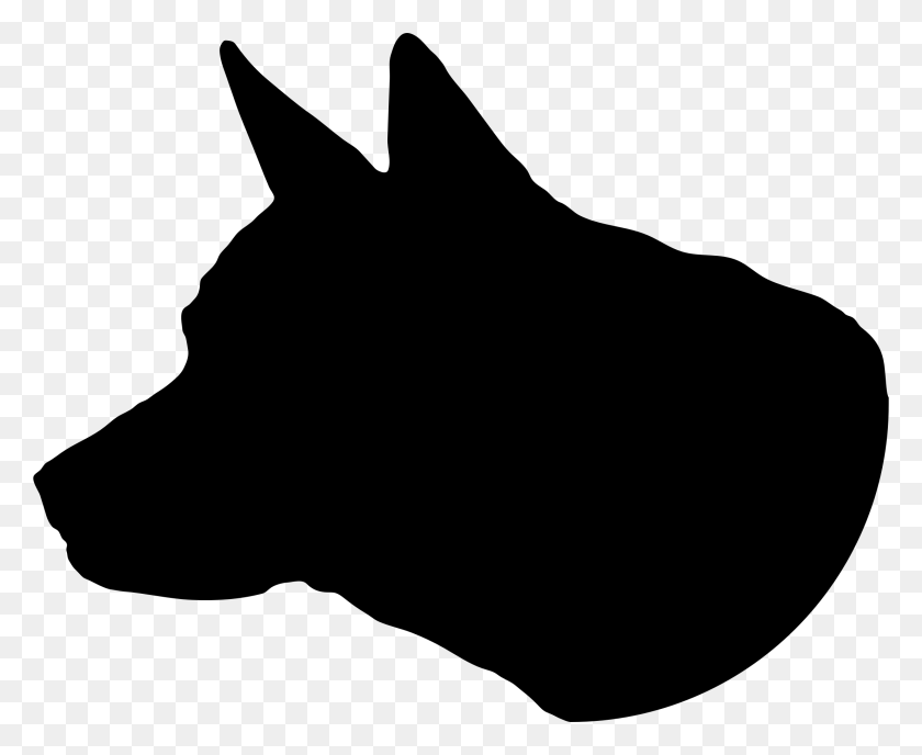 Dog Head Silhouette Desktop Backgrounds - Rottweiler Clipart Black And White