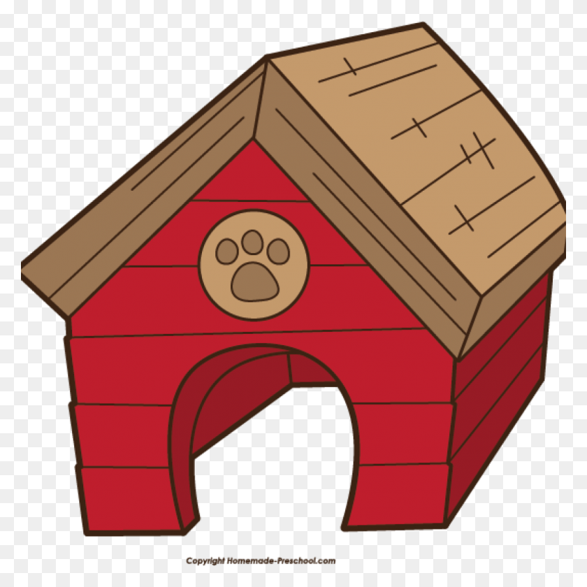 Dog House Clipart A Doghouse And Bowls Of Water Food Vector Clip - Dog Food Bowl Clipart