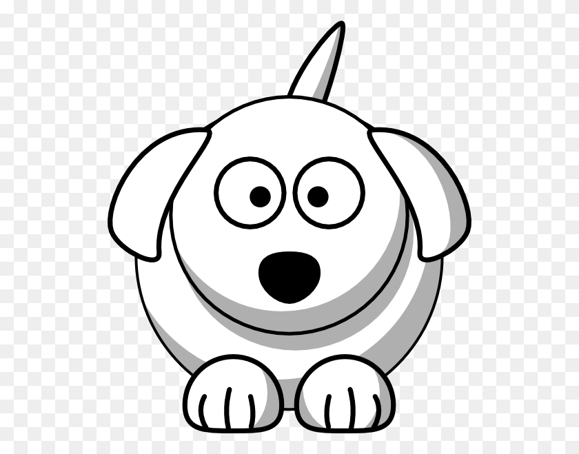 Dog Outline Clip Art - Cute Animal Clipart