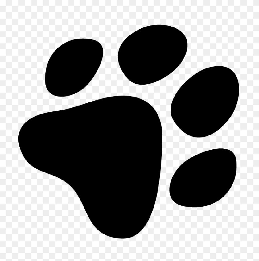 Dog Paw Clip Art - Dog Footprint Clipart