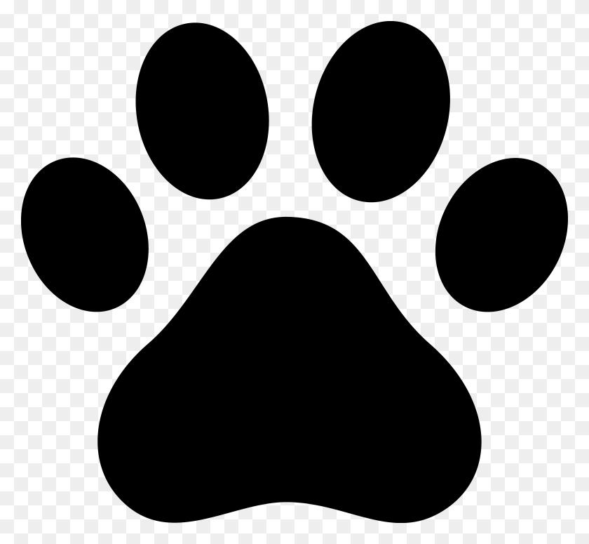 Dog Paw Clip Art Black Paw Print Silhouette Dog Art - Skye Paw Patrol Clipart