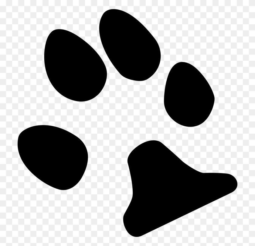 Dog Paw Footprint Logo Cat - Dog Footprint Clipart