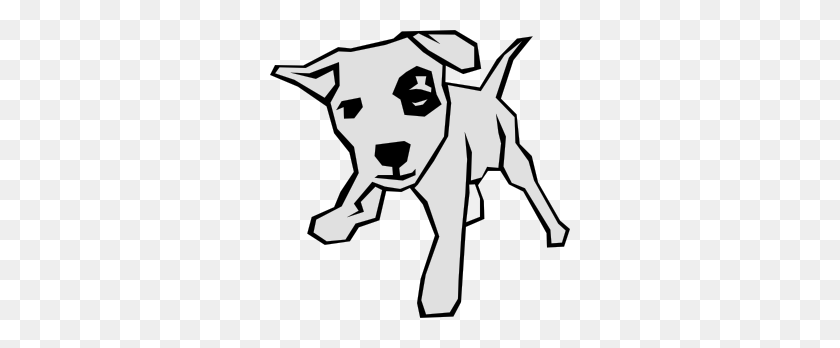 300x288 Dog Simple Drawing Clip Art Free Vector - Free Dog Clip Art