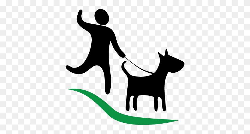 Dog Walking Logos - Walking A Dog Clipart