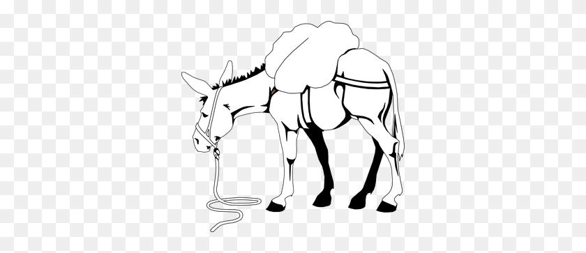 Donkey Clipart Free Clip Art Left Click - Donkey Clipart Black And White