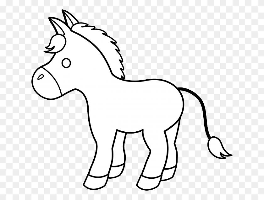 Donkey Clipart Outline - Donkey Clipart