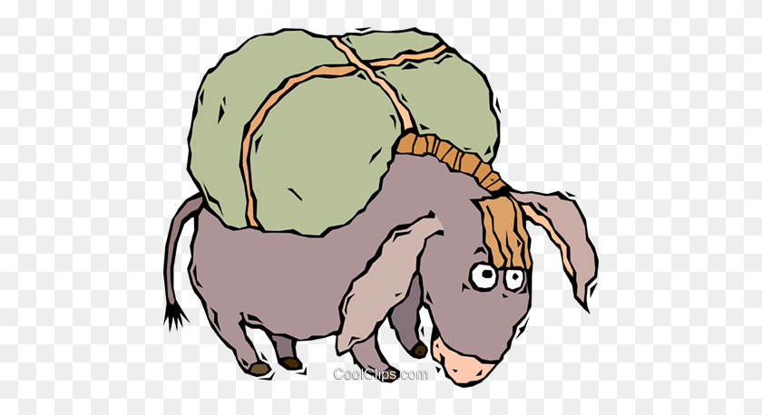 Donkey Royalty Free Vector Clip Art Illustration - Donkey Clipart