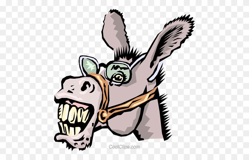 Donkeys Royalty Free Vector Clip Art Illustration - Jackass Clipart