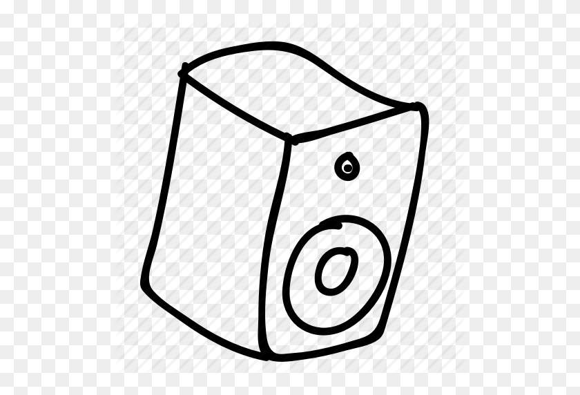 Doodle, Drawing, Electronics, Gadget, Hand Drawn, Music, Speaker Icon - Hand Drawing PNG