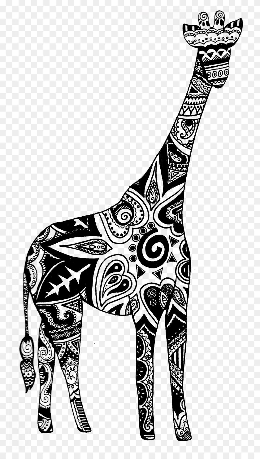 Doodling Giraffes Giraffes Giraffe, Giraffe Tattoos, Henna - Henna PNG