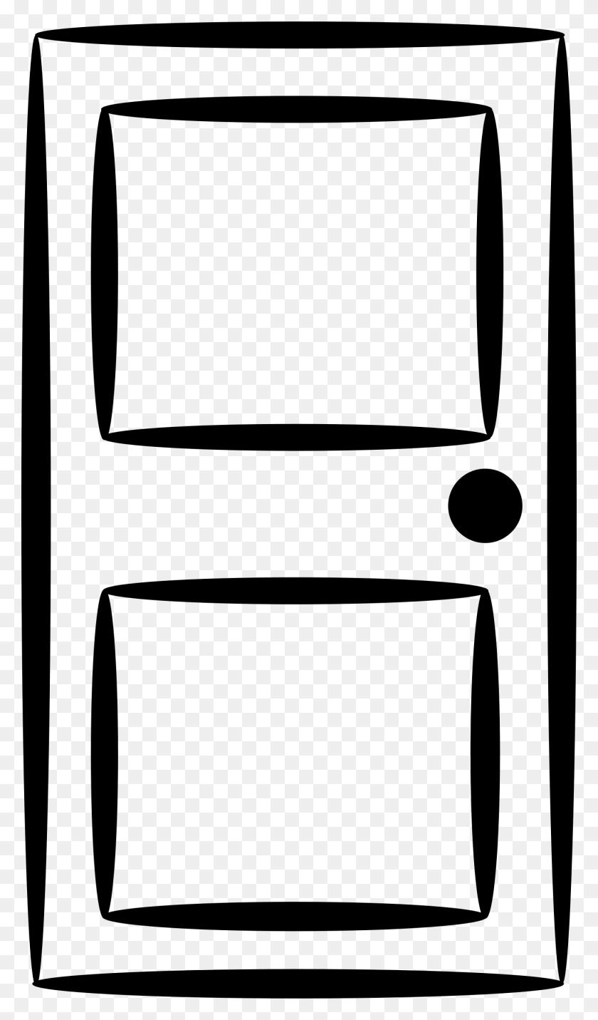 Door Clip Art - Black Frame Clipart