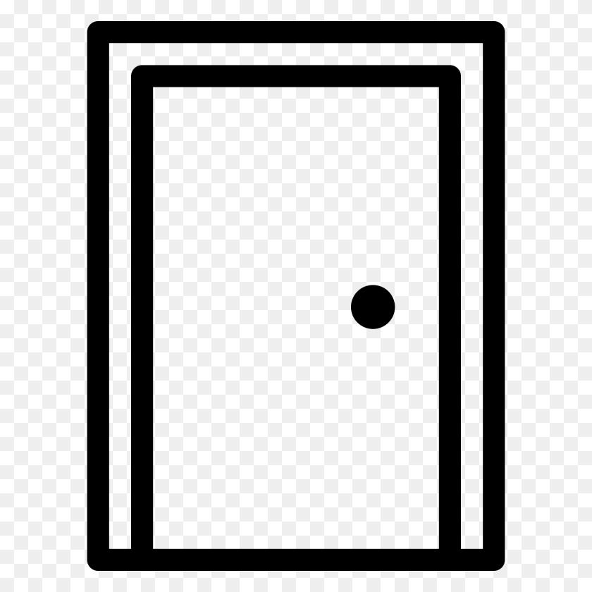 Door Clipart Rectangle Shape - Open Door Clipart Black And White