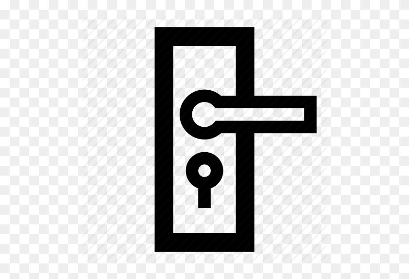 Door Handle, Door Knob, Door Lock, Hanger, Open Door Icon - Door Knob PNG