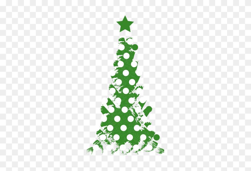 Dotted Grunge Pine Tree - Pine Tree PNG