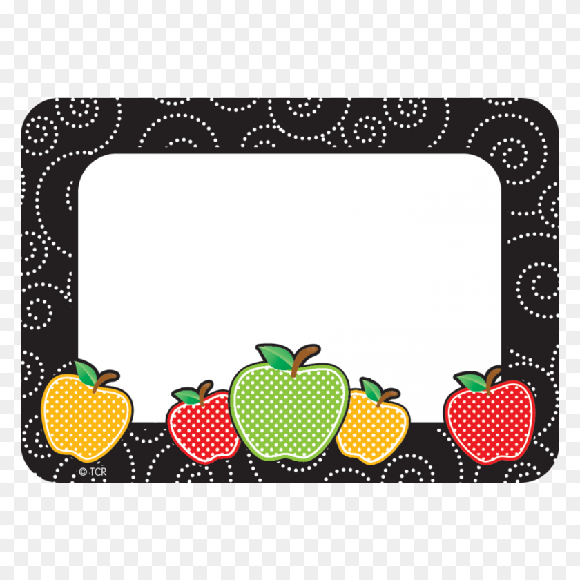 Dotty Apples Name Tagslabels - Name Tag Clipart