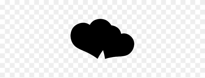 Double Heart Silhouette Cricut Silhouette, Heart, Silhouette - Heart Silhouette Clip Art