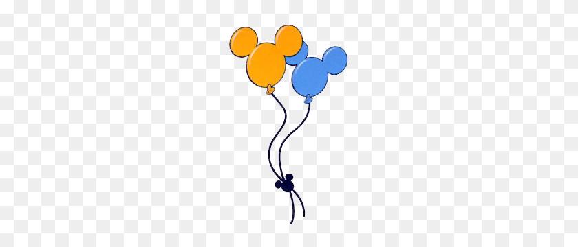 Double Mickey Head Balloons Mickey Loves Minnie - Mickey Mouse Balloon Clipart