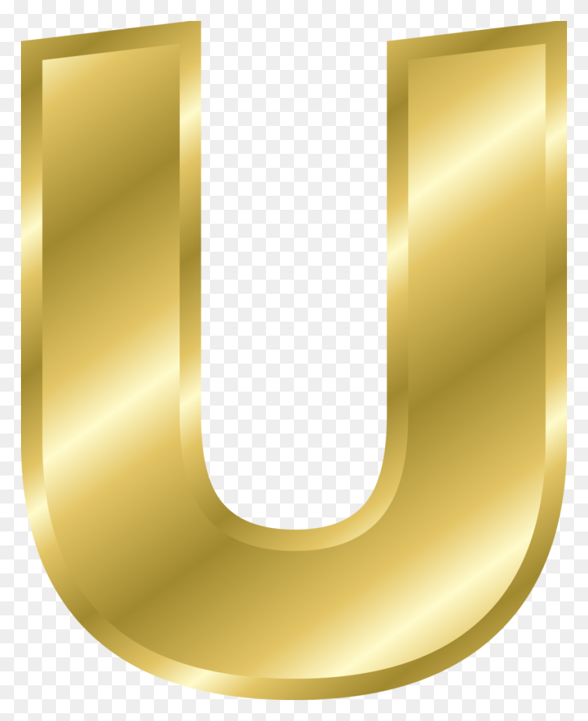 Download Alphabet Gold Letters Clipart Letter U Clip Art Letter - Free Clip Art Letters